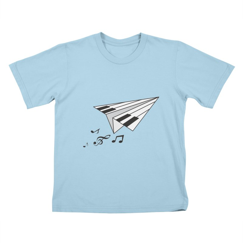 Flying Piano Kids T-Shirt by origami's Artist Shop