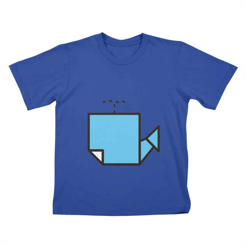 Origami Whale Kids T-Shirt by origami's Artist Shop