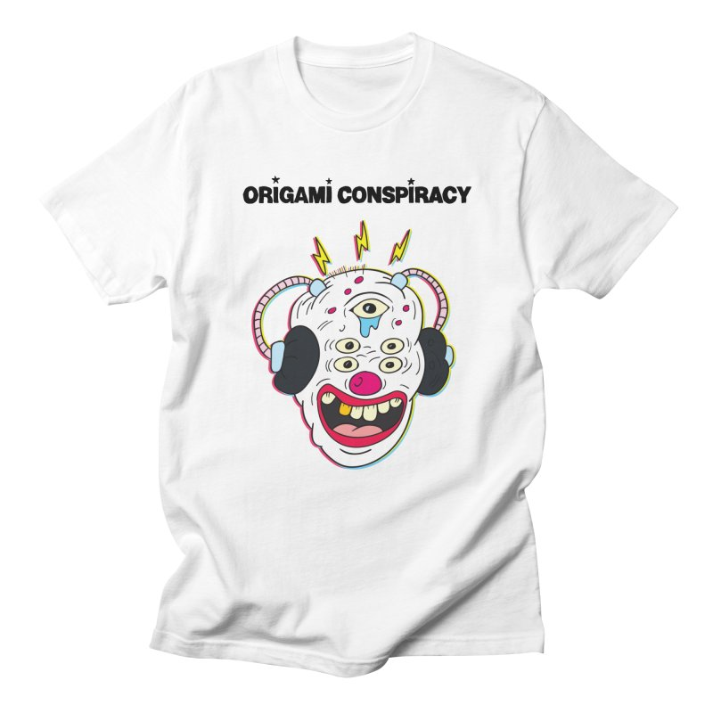 Buzz Clown in Men's T-Shirt White by Origami Conspiracy Merch