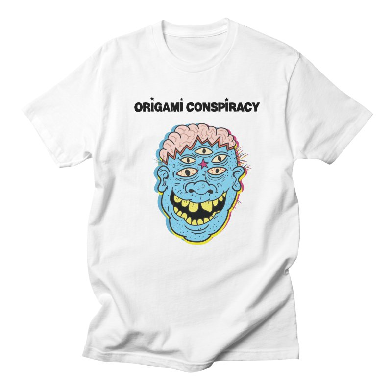 Blue Boy in Men's Regular T-Shirt White by Origami Conspiracy Merch