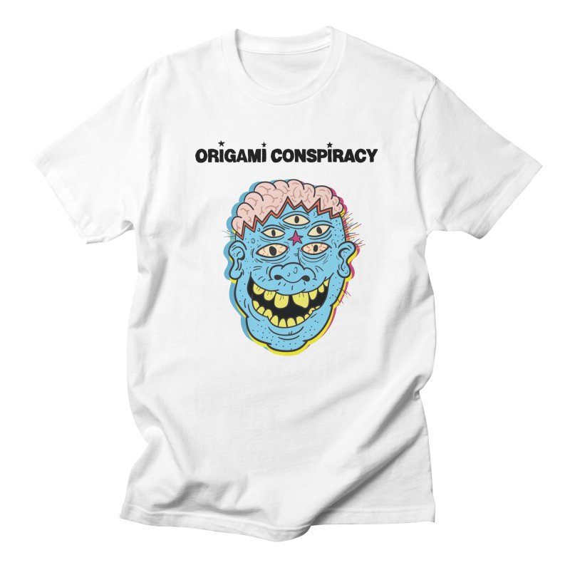 Blue Boy in Men's T-Shirt White by Origami Conspiracy Merch