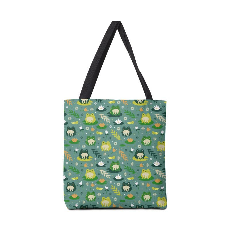 Cute little frogs pond pattern Accessories Bag by Origami Studio