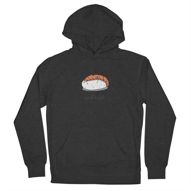 Good night sushi Women's French Terry Pullover Hoody by Origami Studio