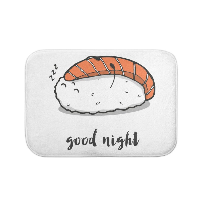 Good night sushi Home Bath Mat by Origami Studio