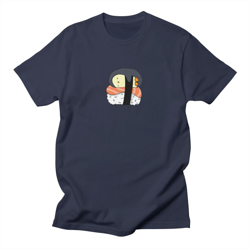 Sleepy sushi penguin Women's Regular Unisex T-Shirt by Origami Studio