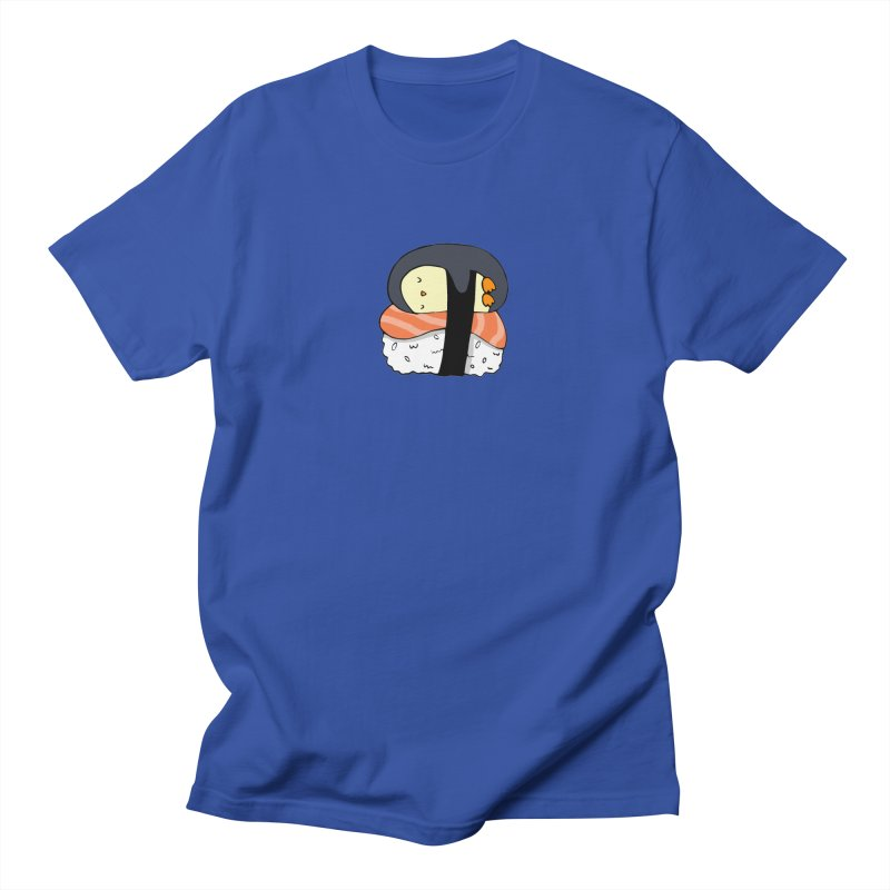 Sleepy sushi penguin Women's Regular Unisex T-Shirt by Origami Studio