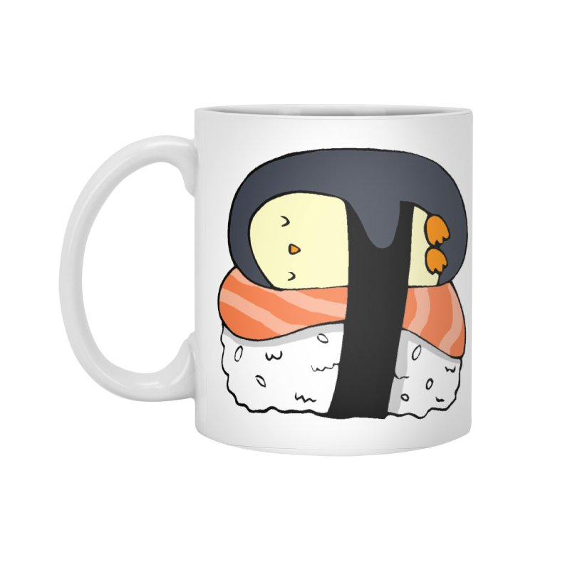 Sleepy sushi penguin Accessories Standard Mug by Origami Studio