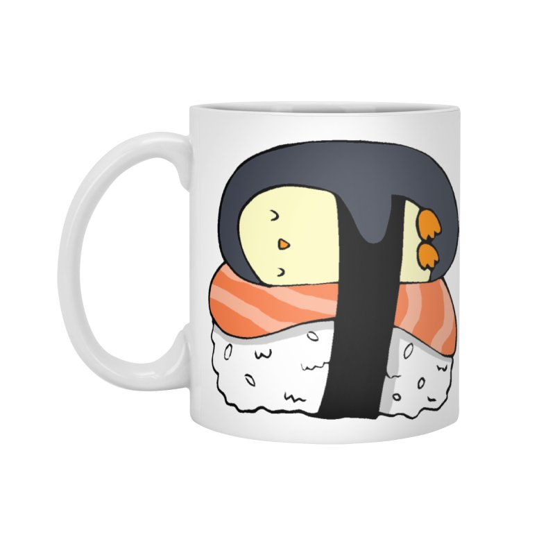Sleepy sushi penguin Accessories Mug by Origami Studio
