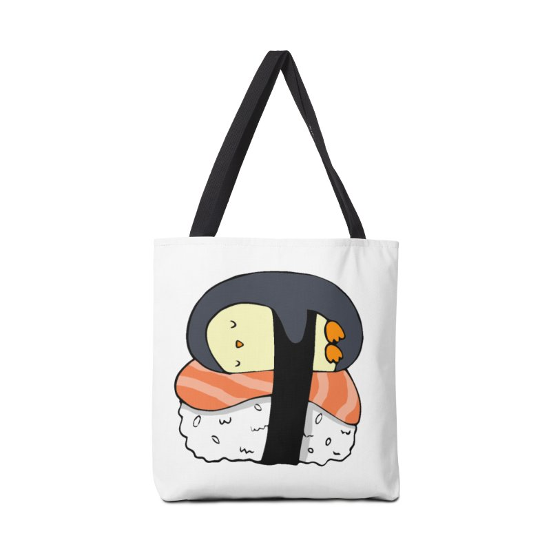 Sleepy sushi penguin Accessories Tote Bag Bag by Origami Studio