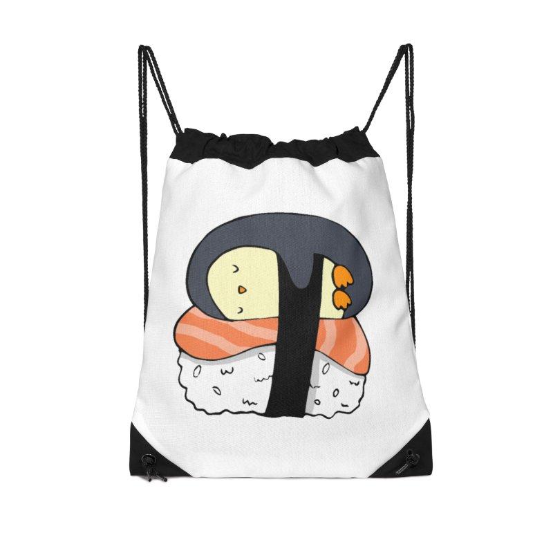 Sleepy sushi penguin Accessories Bag by Origami Studio