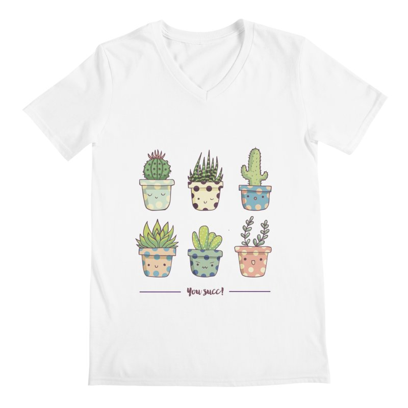 You succ! Cute succulents Men's V-Neck by Origami Studio
