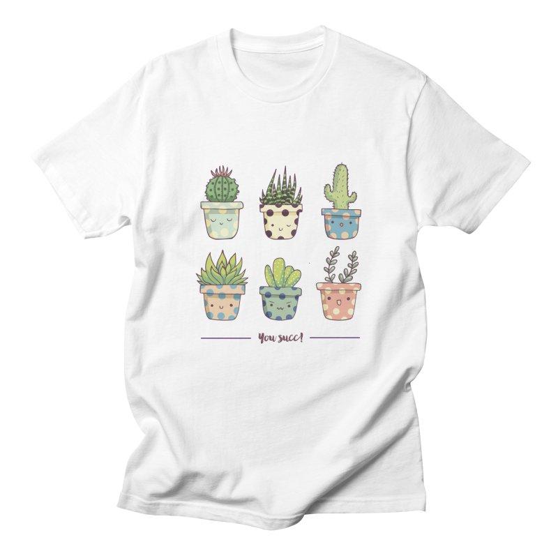 You succ! Cute succulents Men's Regular T-Shirt by Origami Studio