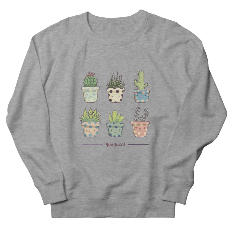 You succ! Cute succulents Men's French Terry Sweatshirt by Origami Studio