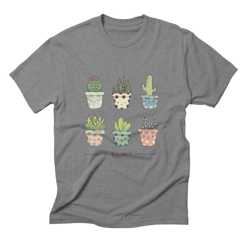 You succ! Cute succulents Men's Triblend T-Shirt by Origami Studio