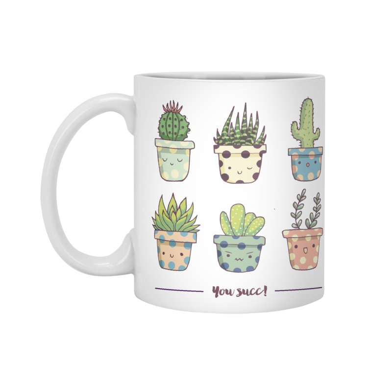 You succ! Cute succulents Accessories Mug by Origami Studio