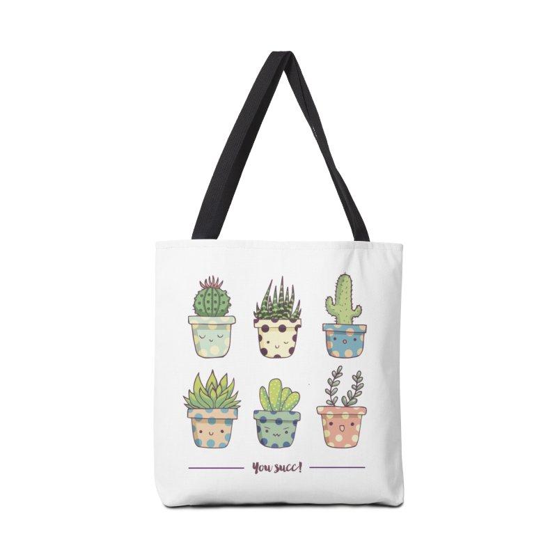 You succ! Cute succulents Accessories Bag by Origami Studio