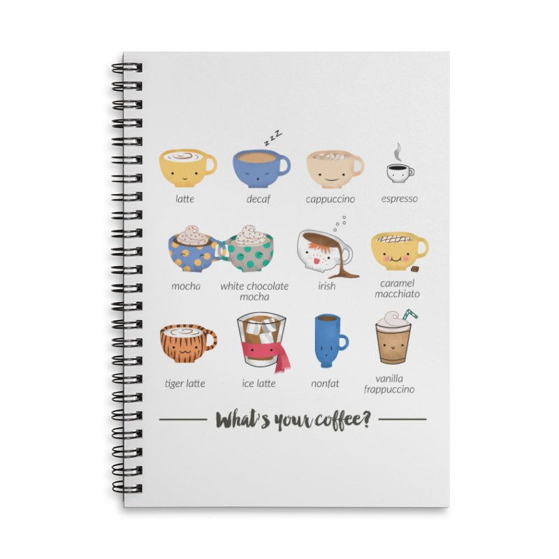 Coffee time! Accessories Lined Spiral Notebook by Origami Studio