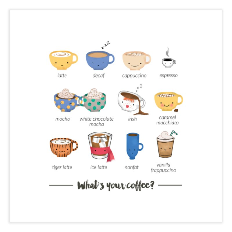 Coffee time! Home Fine Art Print by Origami Studio