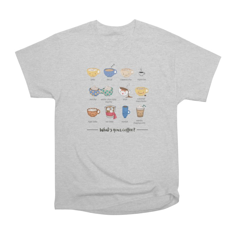 Coffee time! Women's Heavyweight Unisex T-Shirt by Origami Studio