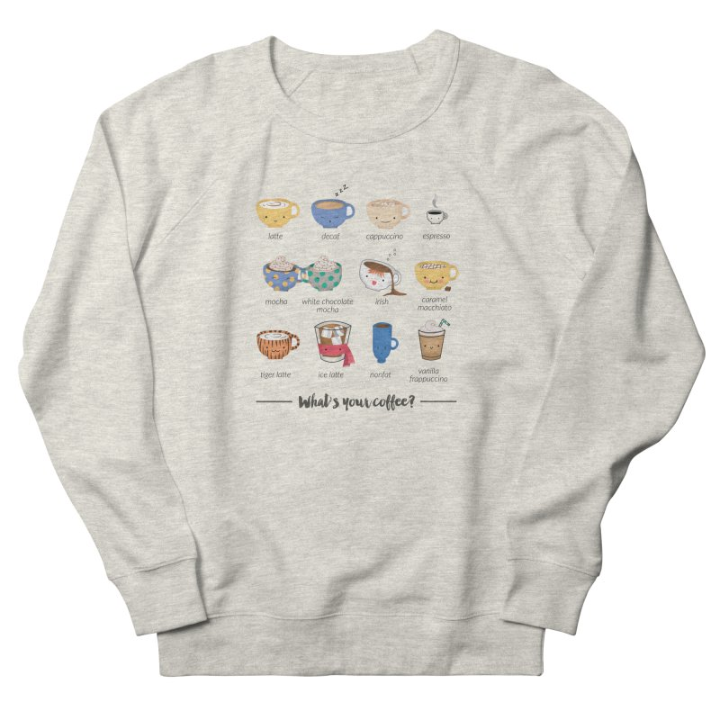 Coffee time! Women's French Terry Sweatshirt by Origami Studio