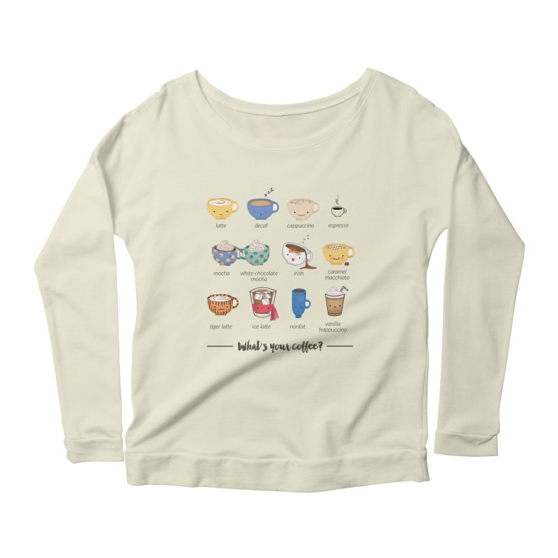 Coffee time! Women's Scoop Neck Longsleeve T-Shirt by Origami Studio