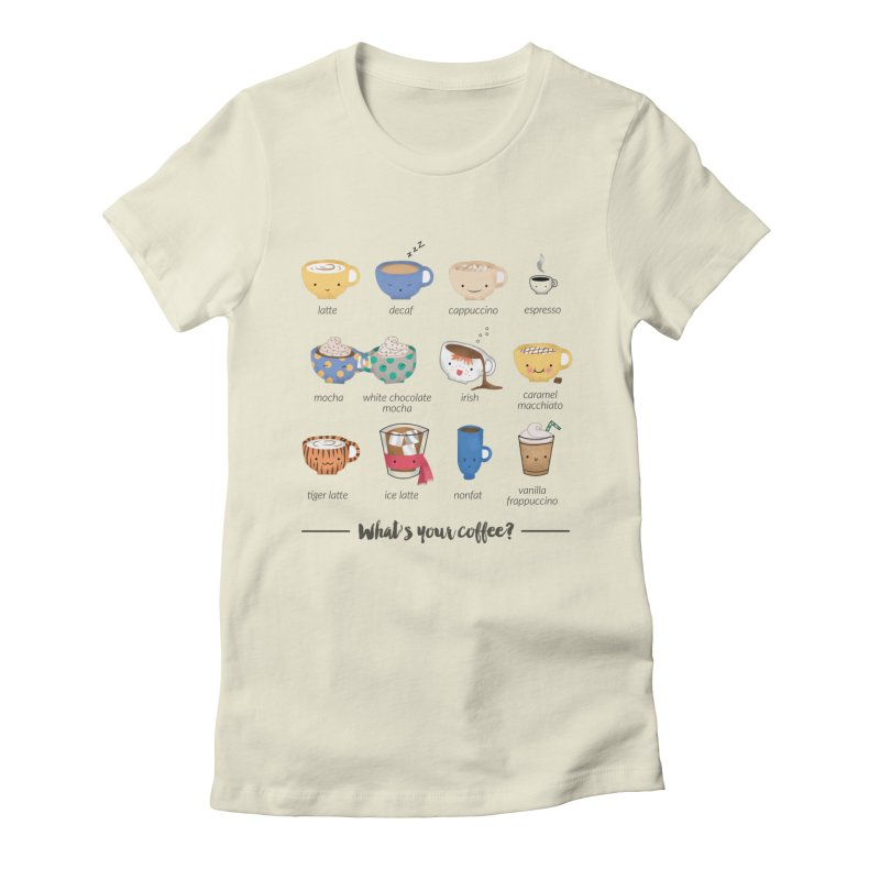 Coffee time! Women's Fitted T-Shirt by Origami Studio