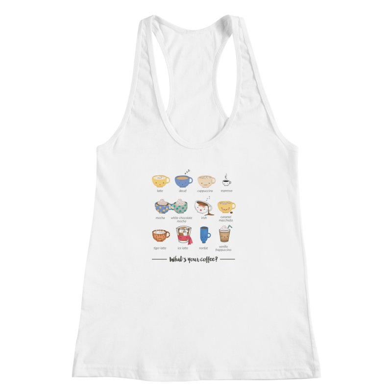 Coffee time! Women's Racerback Tank by Origami Studio