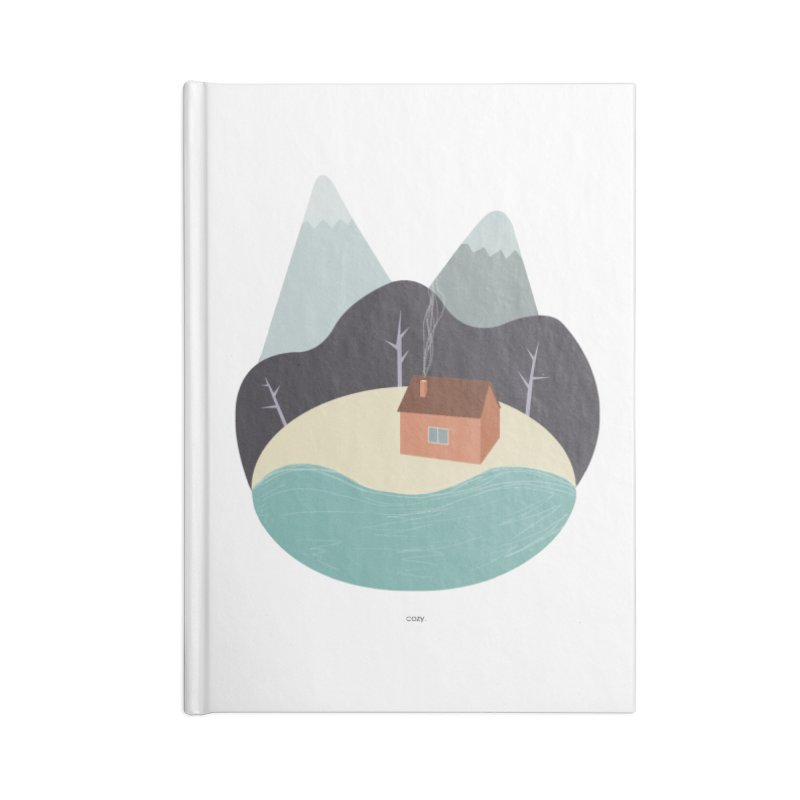Cozy Mountain Home Accessories Lined Journal Notebook by Origami Studio