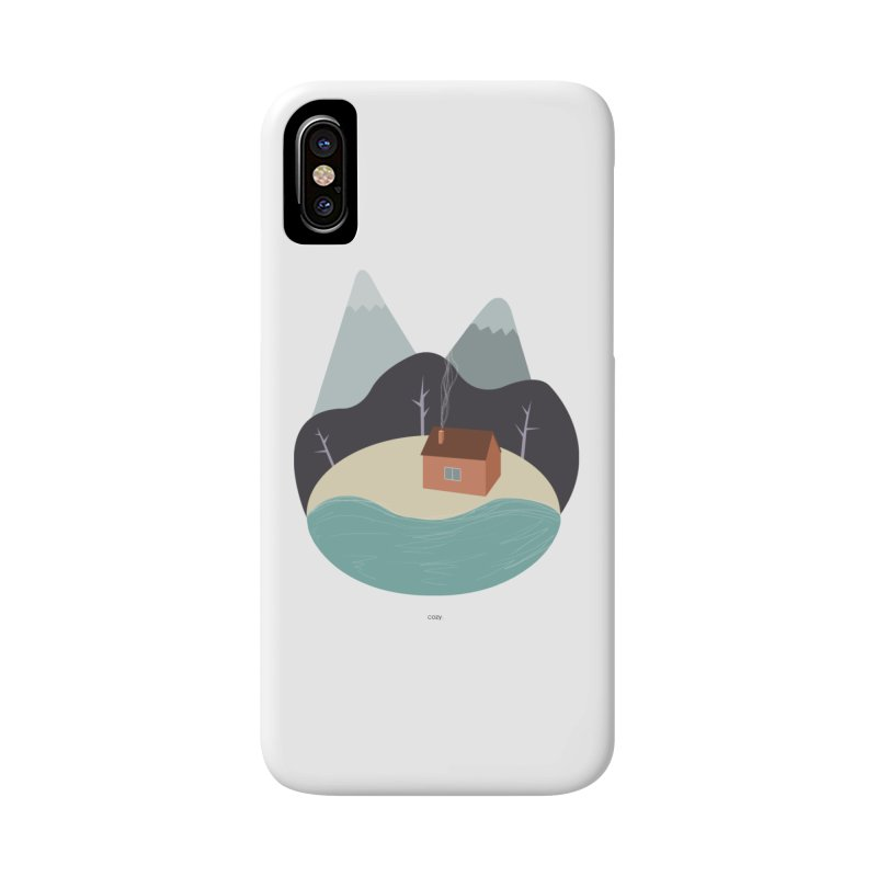 Cozy Mountain Home Accessories Phone Case by Origami Studio