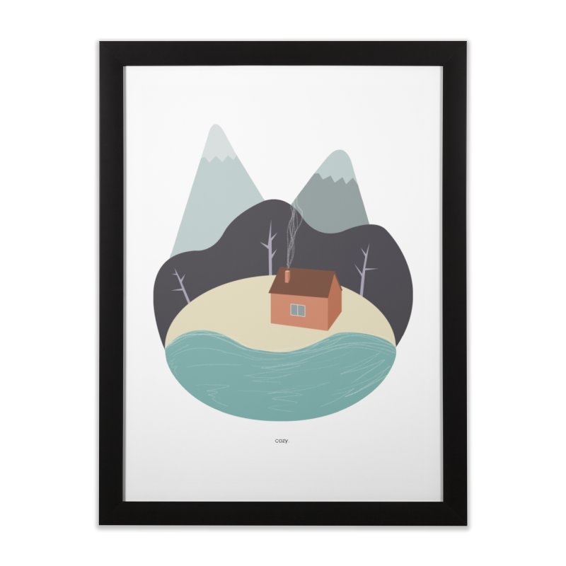 Cozy Mountain Home Home Framed Fine Art Print by Origami Studio