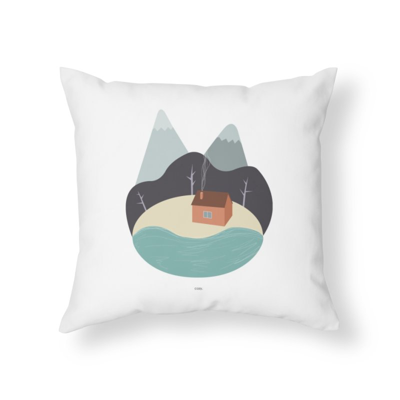 Cozy Mountain Home Home Throw Pillow by Origami Studio
