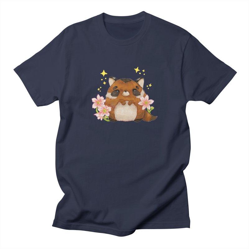 Cute little racoon Men's Regular T-Shirt by Origami Studio