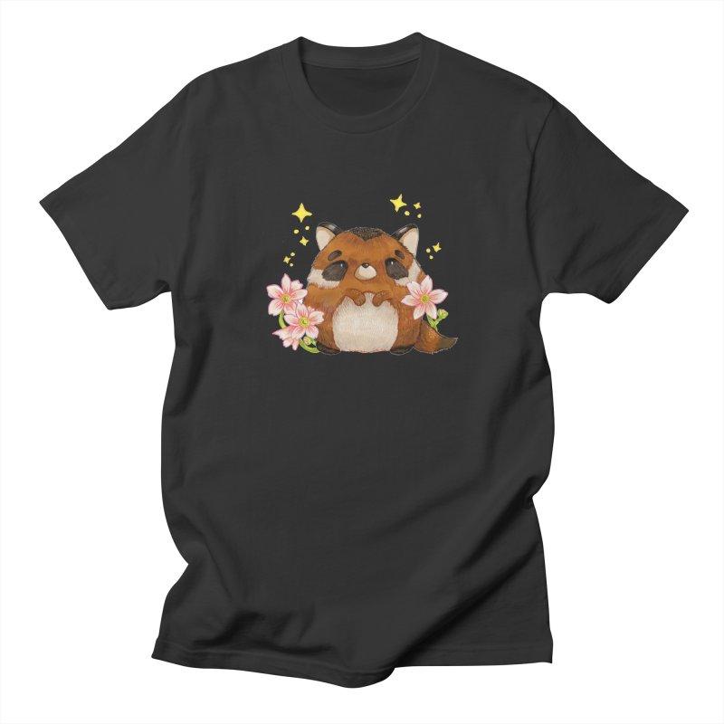 Cute little racoon Women's Regular Unisex T-Shirt by Origami Studio