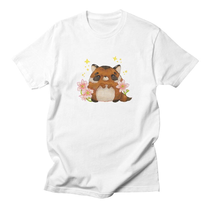 Cute little racoon Women's Regular Unisex T-Shirt by Origami Studio