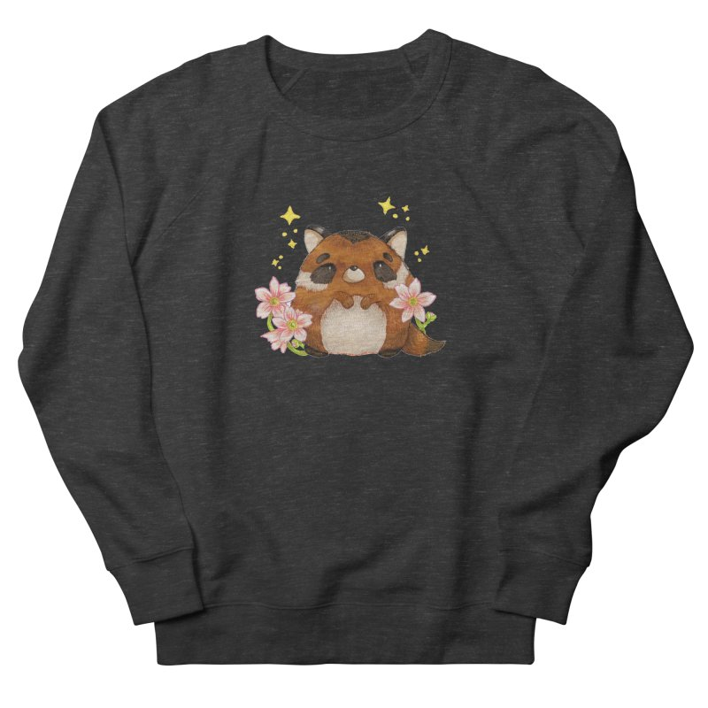 Cute little racoon Women's French Terry Sweatshirt by Origami Studio