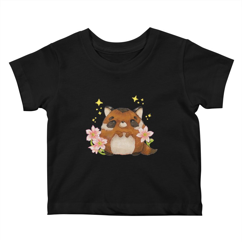 Cute little racoon Kids Baby T-Shirt by Origami Studio