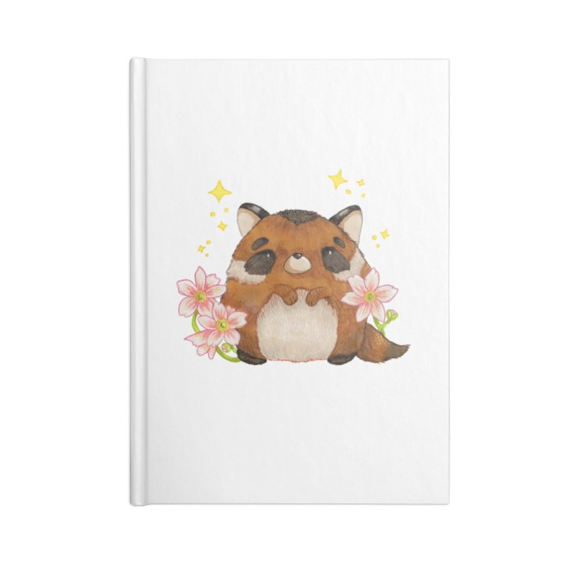 Cute little racoon Accessories Lined Journal Notebook by Origami Studio