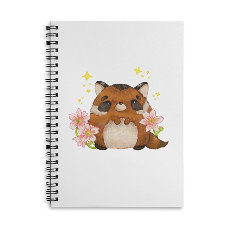Cute little racoon Accessories Lined Spiral Notebook by Origami Studio