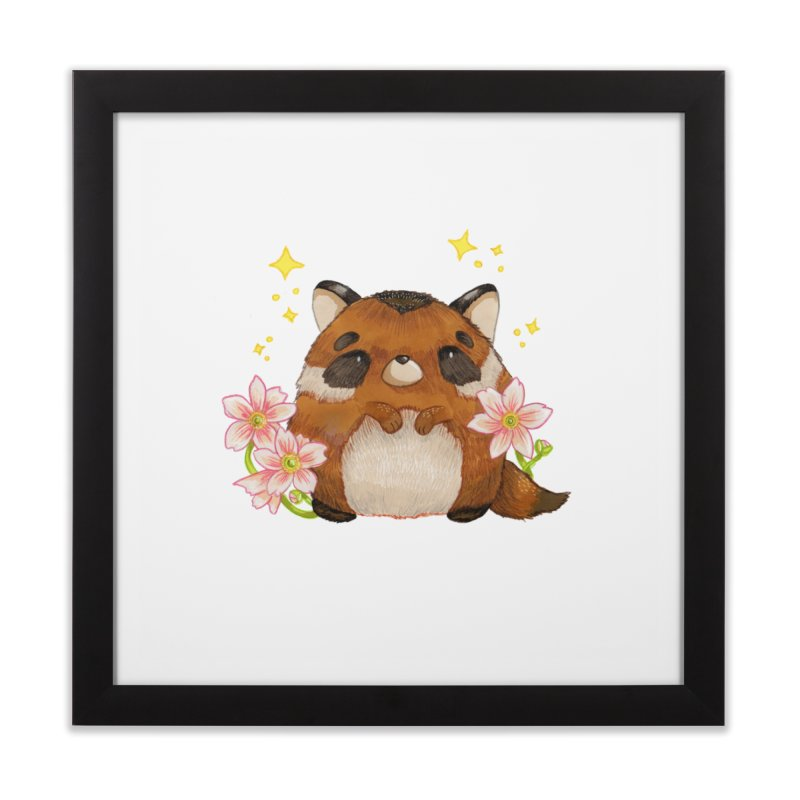 Cute little racoon Home Framed Fine Art Print by Origami Studio