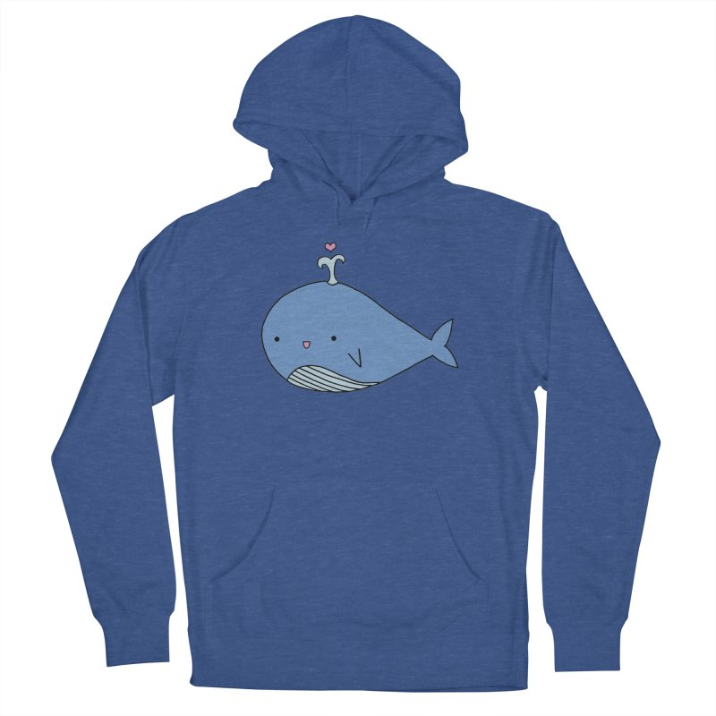 Happy Whale Women's Pullover Hoody by Origami Studio