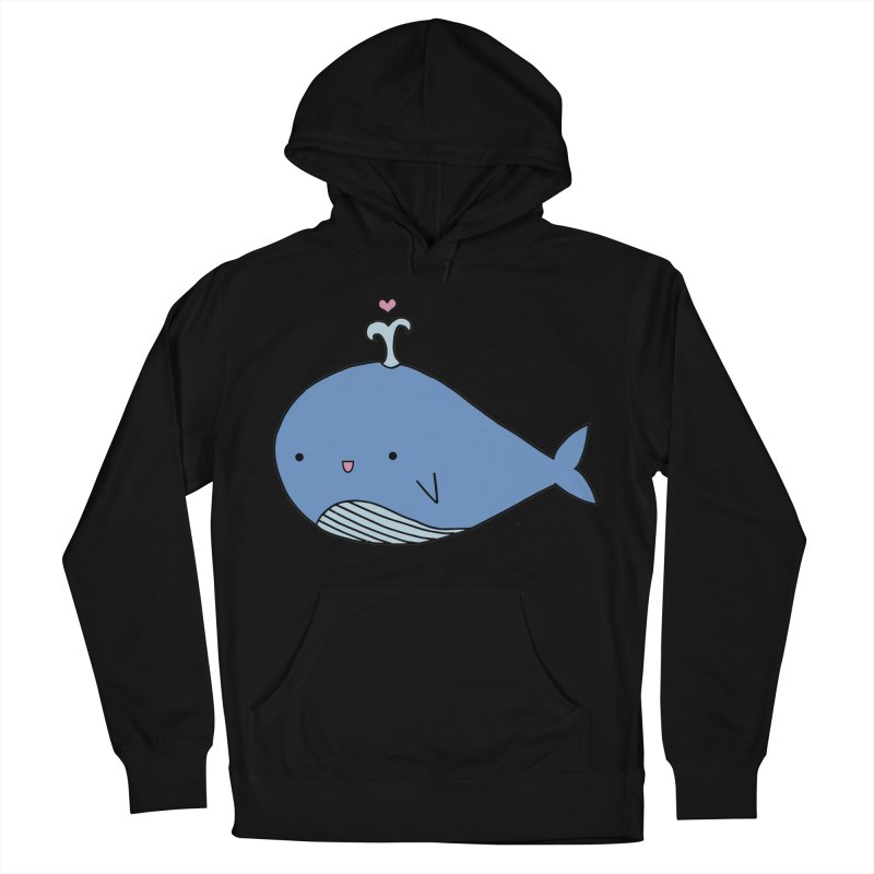 Happy Whale Women's French Terry Pullover Hoody by Origami Studio