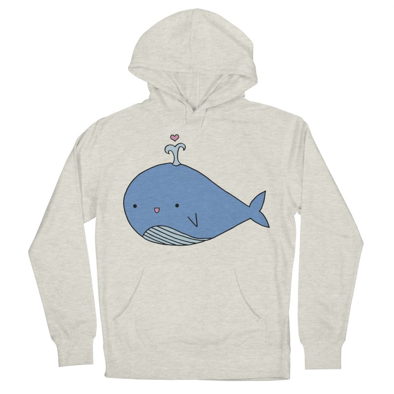 Happy Whale Men's French Terry Pullover Hoody by Origami Studio