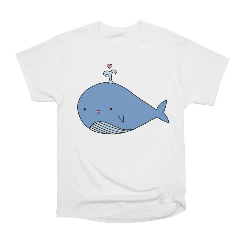 Happy Whale Men's Heavyweight T-Shirt by Origami Studio