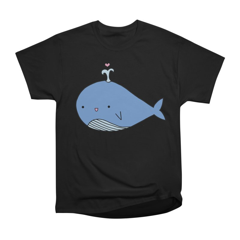 Happy Whale Women's Heavyweight Unisex T-Shirt by Origami Studio
