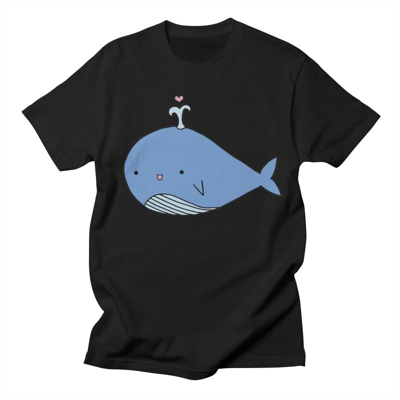 Happy Whale Women's Regular Unisex T-Shirt by Origami Studio