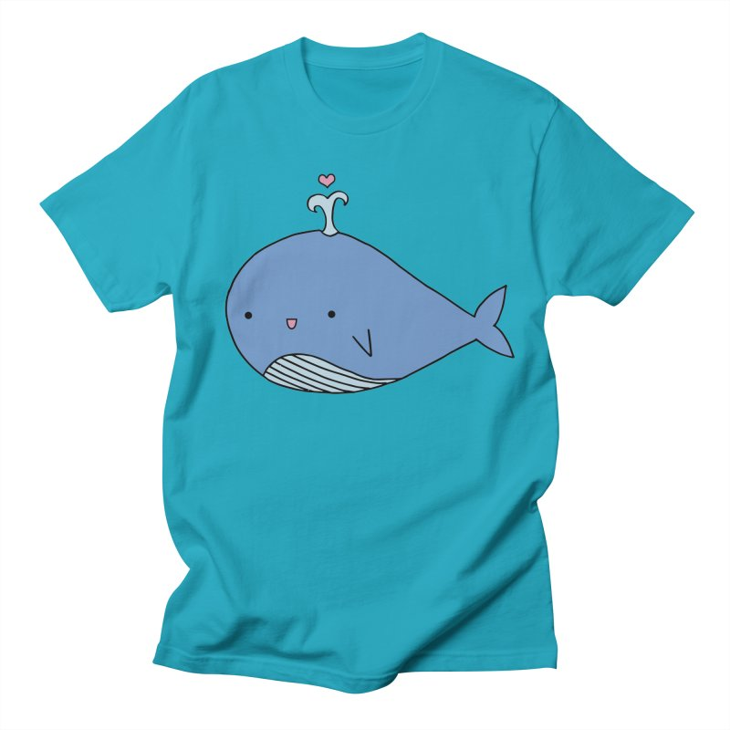 Happy Whale Men's T-Shirt by Origami Studio