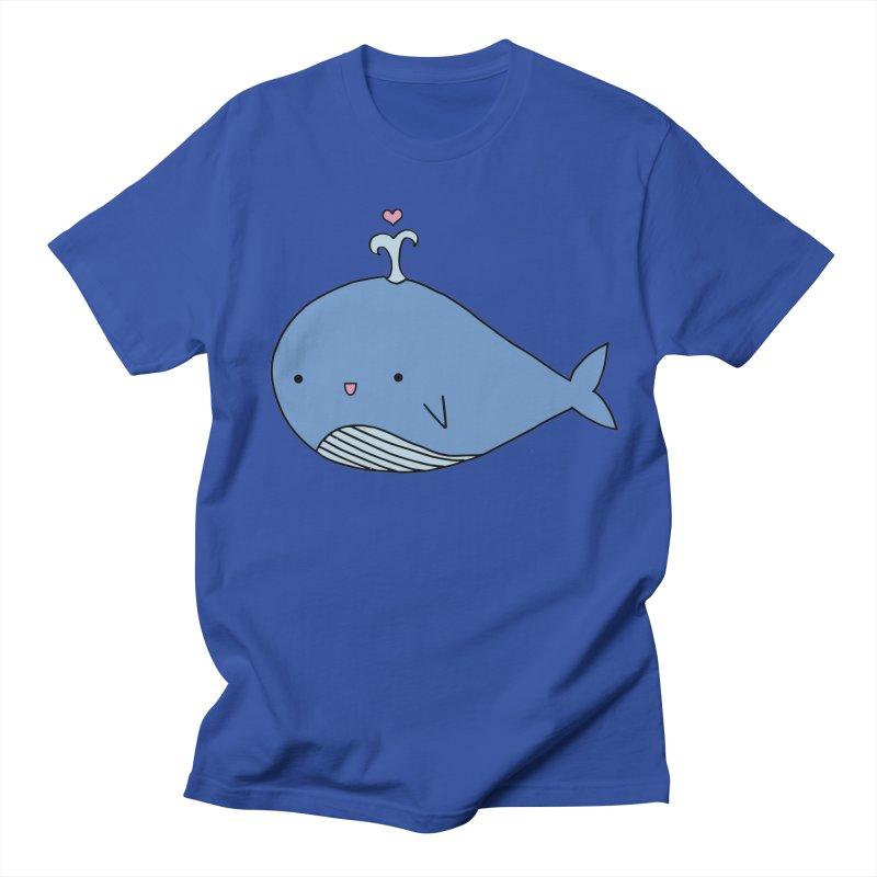 Happy Whale Women's Regular Unisex T-Shirt by Origami Studio