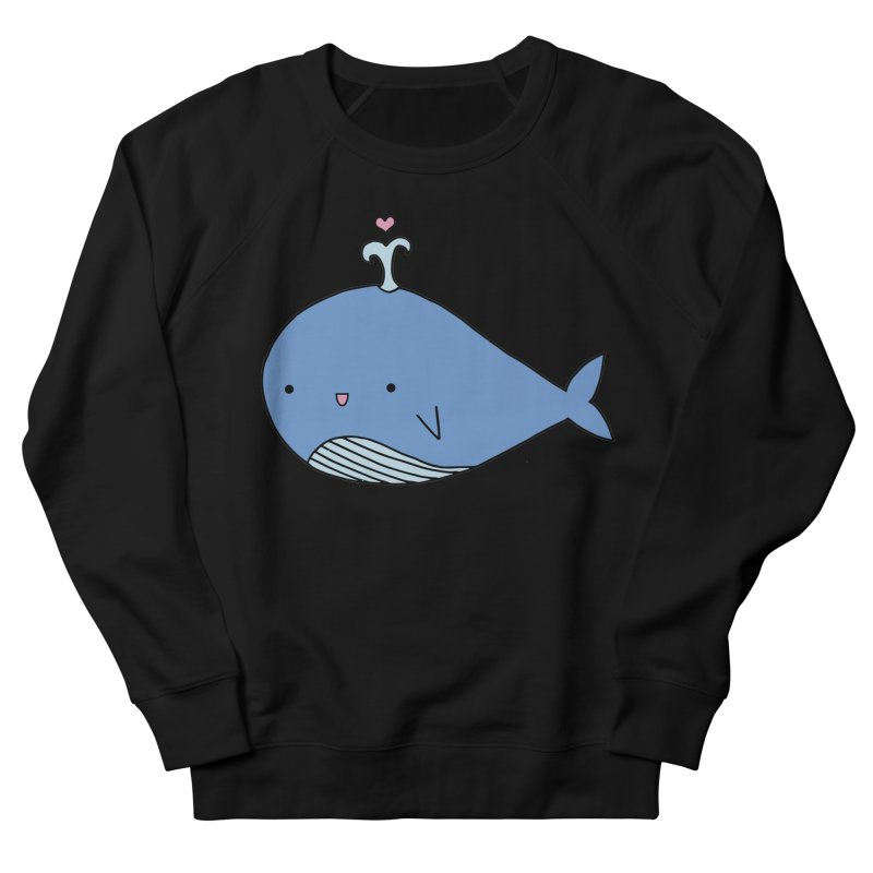 Happy Whale Women's French Terry Sweatshirt by Origami Studio