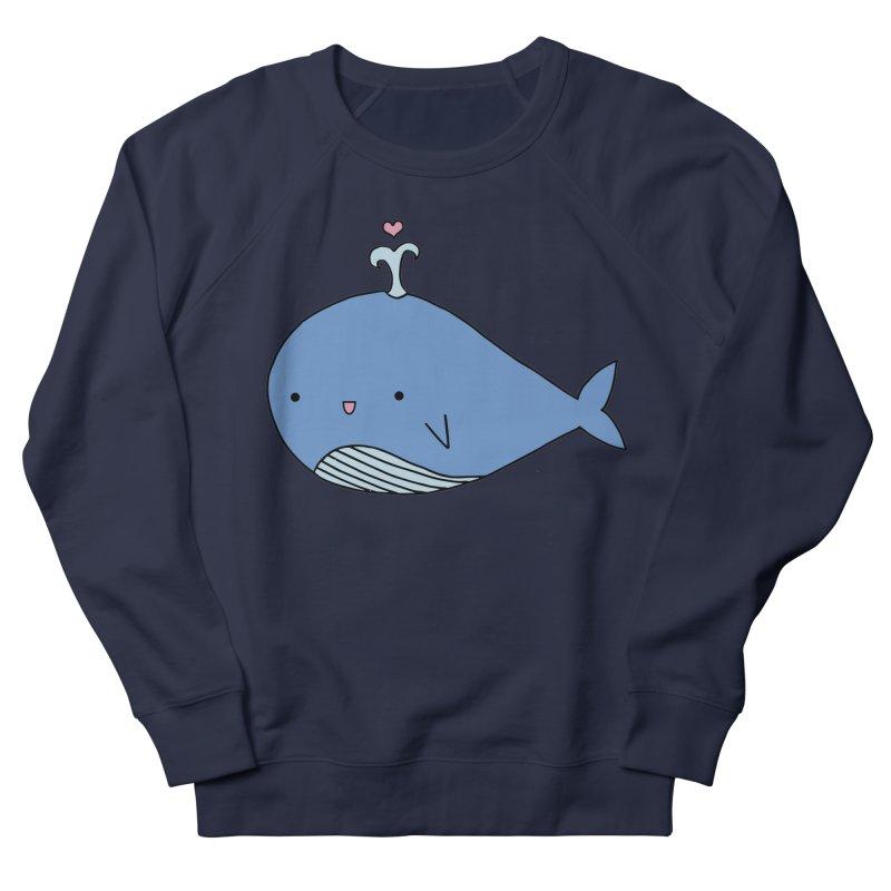 Happy Whale Women's French Terry Sweatshirt by Origami Studio