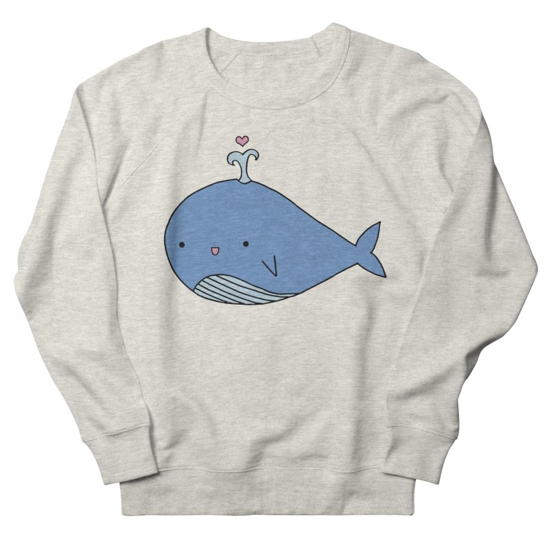 Happy Whale Men's French Terry Sweatshirt by Origami Studio